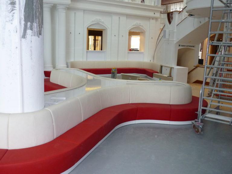 Sitzbank im Hotel Dormero
